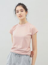 レディースヨガハイネックTシャツ