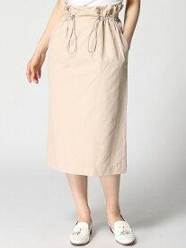 【SALE/65%OFF】DouDou ドロストスカート パル グループ アウトレット スカート タイトスカート ベージュ ホワイト【送料無料】