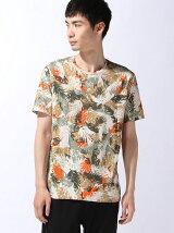 (M)総柄プリントTシャツ・カットソーUDDWS2