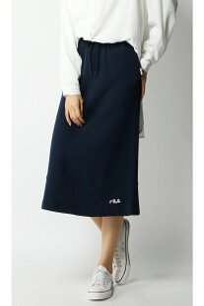 ikka FILAロゴカットスカート イッカ スカート フレアスカート ネイビー ベージュ【送料無料】