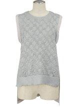 Lucid knit top デザインニットタンク