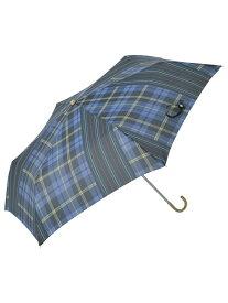 nifty colors niftycolors/(W)ミックスチェックミニ ニフティカラーズ ファッショングッズ 日傘/折りたたみ傘 ブルー レッド