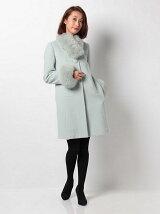 Ladyノーカラーコート