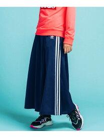 【SALE/30%OFF】adidas Originals LONG SATIN SKIRT アディダス スカート ロングスカート ネイビー ブラック【送料無料】