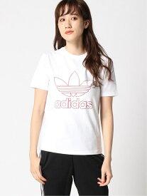 【SALE/70%OFF】adidas Originals アウトライン トレフォイル 半袖Tシャツ [TREFOIL TEE] アディダスオリジナルス アディダス カットソー Tシャツ ホワイト