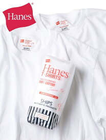 SHIPS Hanes×SHIPS:別注NEWTシャツJapanFit(2枚組) シップス インナー/ナイトウェア ルームウェア/はおり ホワイト