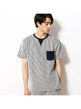 シアサッカーポケット半袖Tシャツ