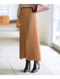 【SALE/12%OFF】grove アソートサテンプリーツスカート グローブ スカート スカートその他 ブラウン ブラック