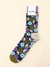 (W)【Happy Sock】 フラワー