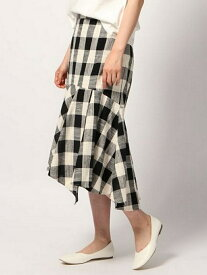 【SALE/50%OFF】GLOBAL WORK (W)ブロックCHペプラムSK グローバルワーク スカート ロングスカート ブラック グレー