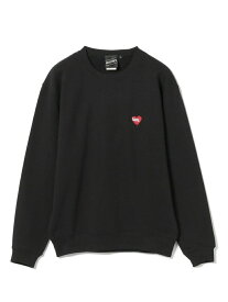 【SALE/30%OFF】BEAMS T 【SPECIAL PRICE】BEAMS T / BLACK HEART × CREEP LOGO Crewneck Sweatshirt ビームスT カットソー スウェット ブラック ネイビー【送料無料】