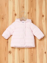 (K)フード付き中綿入りコート