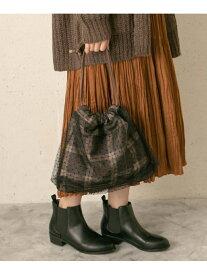 【SALE/60%OFF】RODE SKO MELANIAチュールチェック巾着 ロデスコ バッグ バッグその他 ブラウン ブラック