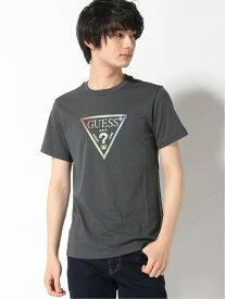 GUESS (U)Unisex Triangle Logo Tee ゲス カットソー Tシャツ グレー ピンク ブラック ホワイト【送料無料】