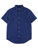 Men's ビンテージチェック 半袖レギュラーシャツ