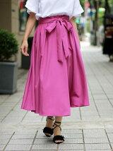 ウエストリボンモダールラップスカート