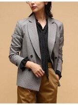 《予約》【ロペ マドモアゼル×AYA KANEKO】千鳥格子ダブルブレストジャケット