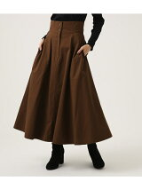 HIGH WAIST FLARE LONG SKIRT