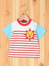 NHKひらめきボーダープリント半袖Tシャツ