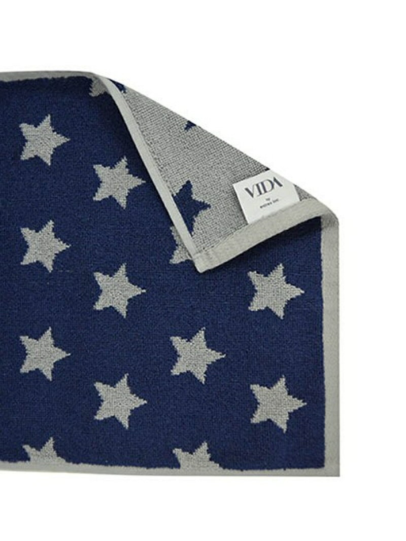 VIDA VIDA/VIDA ハンドタオル スター グレー×ネイビー アントレスクエア 生活雑貨