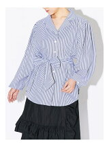 POWER SHOULDER STRIPE SHIRT