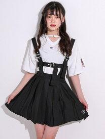 【SALE/10%OFF】ZIDDY ハーネスベルト風 プリーツ スカート パンツ(130~160cm) ベベ オンライン ストア パンツ/ジーンズ ショートパンツ ブラック