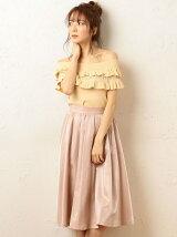カラータックギャザースカート