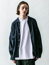 <monkey time> L/R CVS WIDE SHIRT/ワイドシャツ
