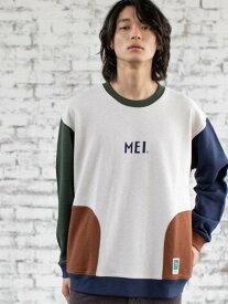 【SALE/28%OFF】coen MEI(メイ)別注スウェットクルーネック コーエン カットソー Tシャツ ホワイト ブラウン グリーン