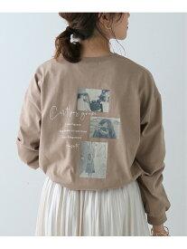 【SALE/20%OFF】frames RAY CASSIN 転写+ロゴ袖ボリュームTシャツ レイカズン カットソー Tシャツ ブラウン ホワイト ブラック
