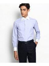 THOMAS MASON クレリックセミワイドカラー ドレスシャツ