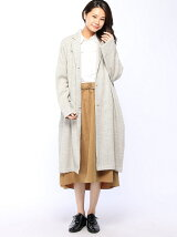 ヘリンボーンロングジャケットコート