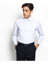THOMAS MASON ミクロストライプ セミワイドカラードレスシャツ