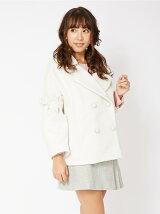 パール付ボリューム袖コート