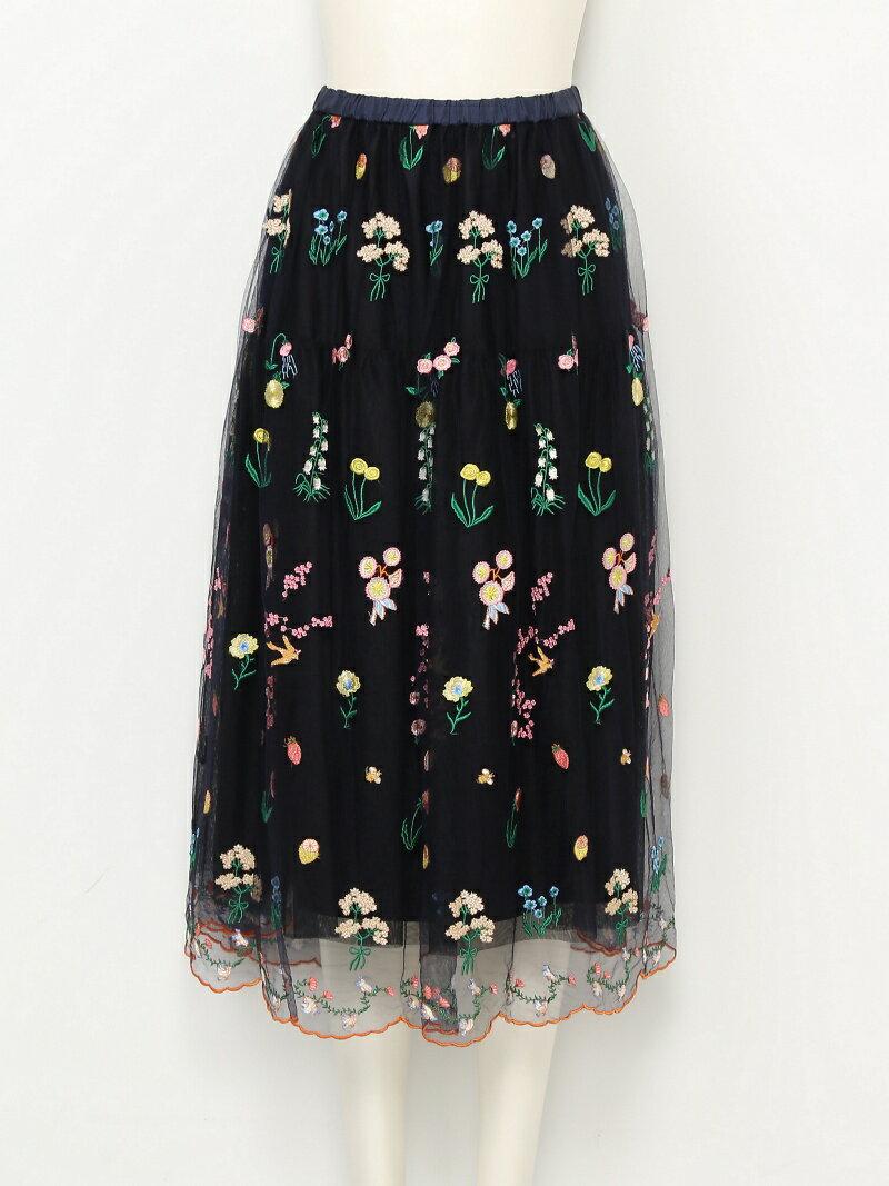 【SALE/40%OFF】franche lippee L-size flowerSK フランシュリッペ スカート【RBA_S】【RBA_E】【送料無料】