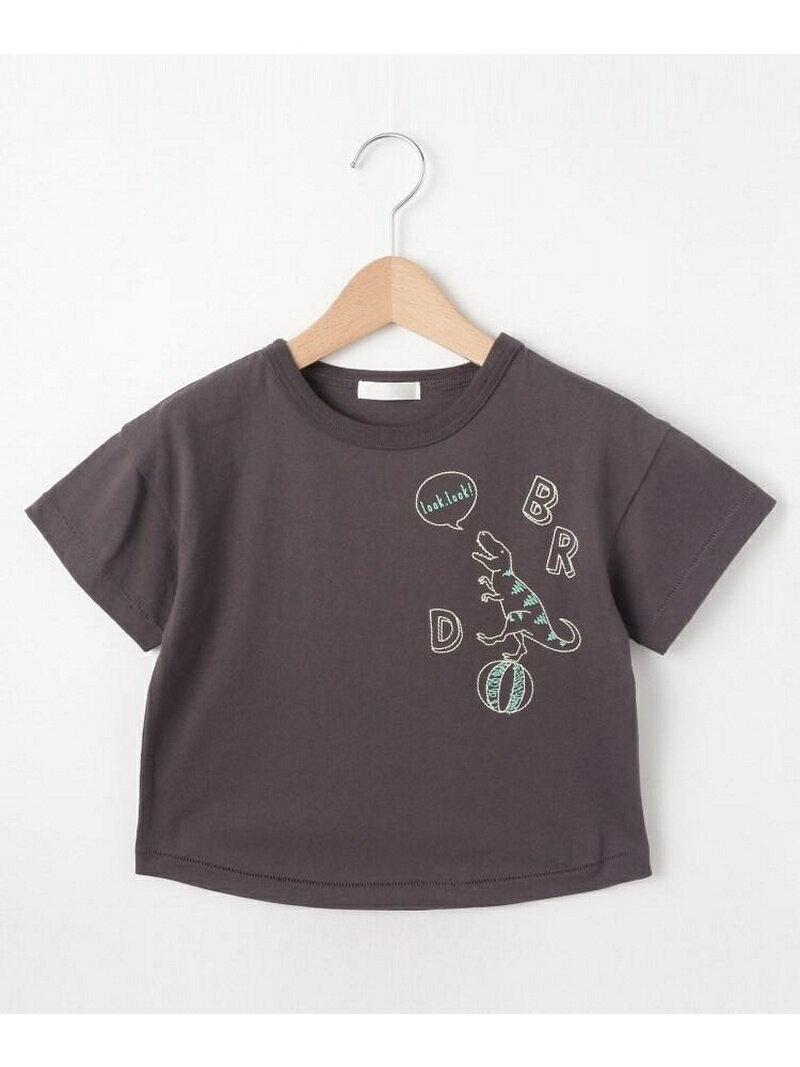 SHOO・LA・RUE/Kids 恐竜ステッチTシャツ シューラルー カットソー