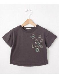 【SALE/10%OFF】SHOO・LA・RUE/Kids 恐竜ステッチTシャツ シューラルー カットソー【RBA_S】【RBA_E】