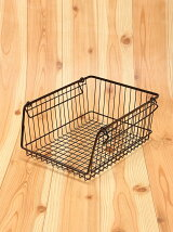 WIRESTORAGEOPENBASKETA4M(ブラック)