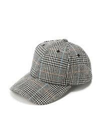 TOKOHANA グレンチェック柄キャップ トコハナ 帽子/ヘア小物 キャップ ブラック ブラウン