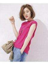 カラーネップフレンチスリーブTシャツ