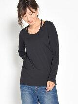 三つ編みロングTシャツ