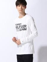 (M)コットンロゴロングTシャツ