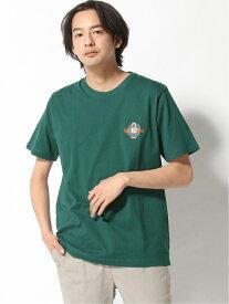 WEGO WEGO/(M)サークルベア刺繍T(S) ウィゴー カットソー Tシャツ グリーン グレー ホワイト レッド