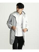 綿麻コーティングスタンドフーテッドコート