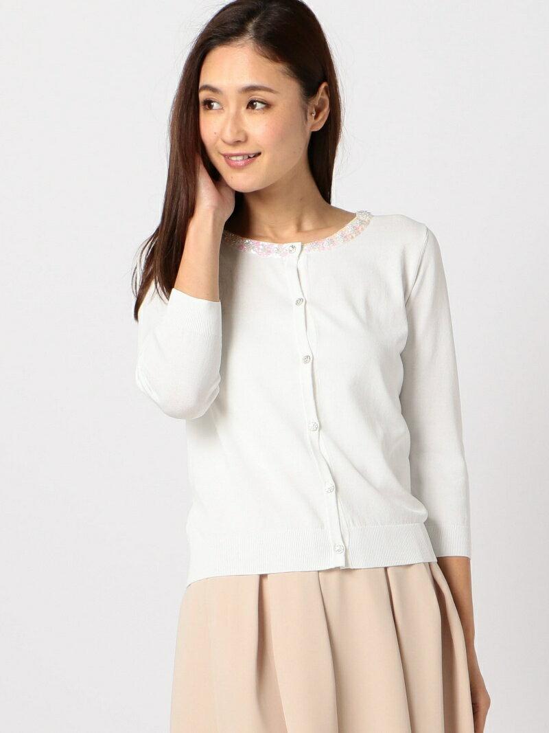 【SALE/66%OFF】MEW'S REFINED CLOTHES スパンコール装飾カーディガン ミューズ リファインド クローズ ニット【RBA_S】【RBA_E】