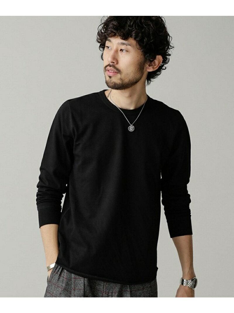 【SALE/40%OFF】ラッセル編み裾ラウンドTシャツL/S ナノユニバース カットソー【RBA_S】【RBA_E】