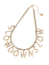 【Goods】SLOW DOWN SLOWネックレス