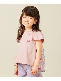 【SALE/30%OFF】any FAM KIDS 【90‐130?】前後差有りAラインTシャツ エニィファム カットソー Tシャツ ピンク ホワイト ブラック グリーン