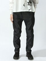Tapered Denim  Trousers