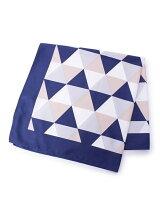 幾何学柄スカーフ